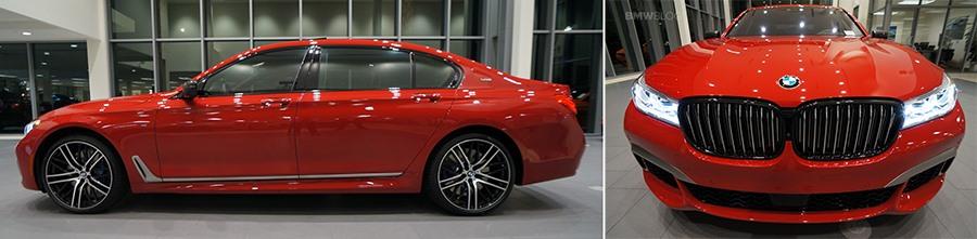 Imola Red BMW M760Li