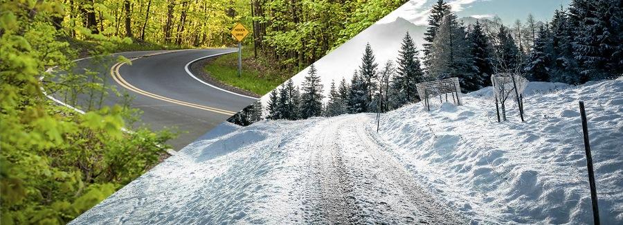 winter summer road