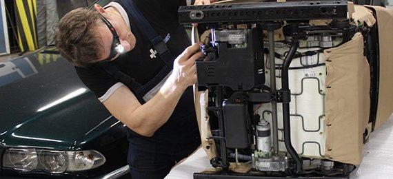 066 BMW 7 серии E38: Замена подушки сидения