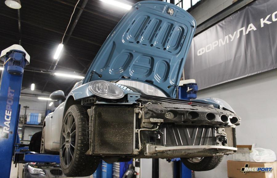 porsche 911 991 Carrera дополнительный радиатор