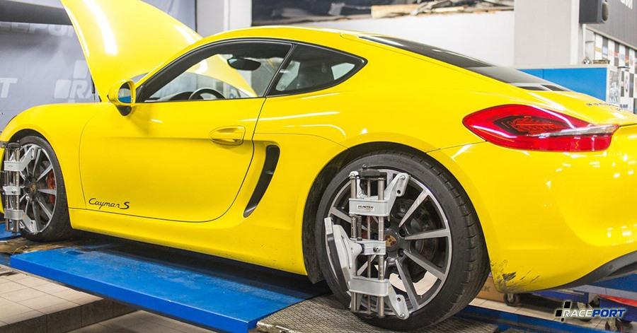 raceport Развал схождение Porsche