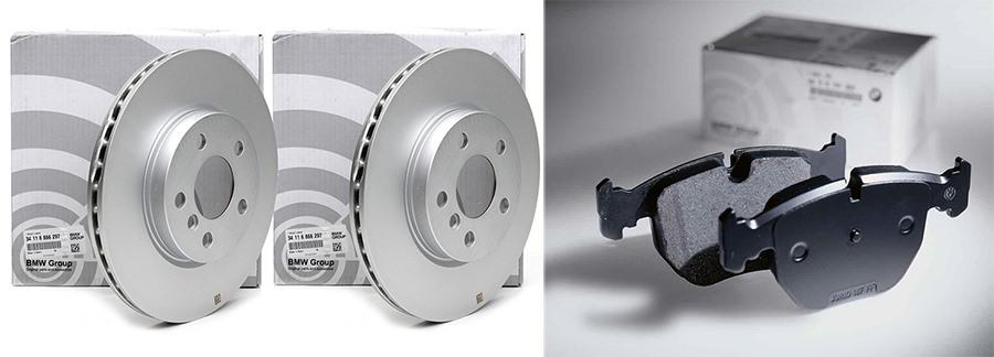 Заменить диски и колодки на BMW, Mercedes, Porsche