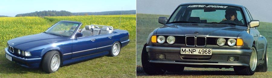 BMW E32 Koenig and Cabrio