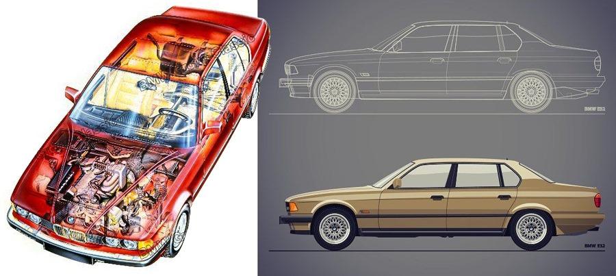 BMW E32 Rentgen