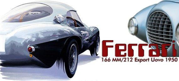 Уникальный Ferrari 166 MM/212 Export Uovo 1950