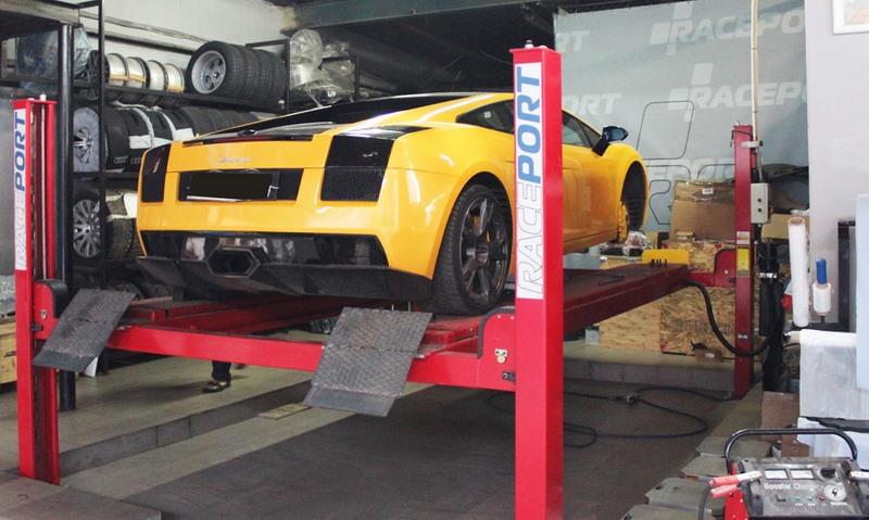 raceport service lambo